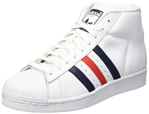 Adidas Promodel Scarpe a collo alto, Uomo, Multicolore (Ftwwht/Conavy/Red), 42