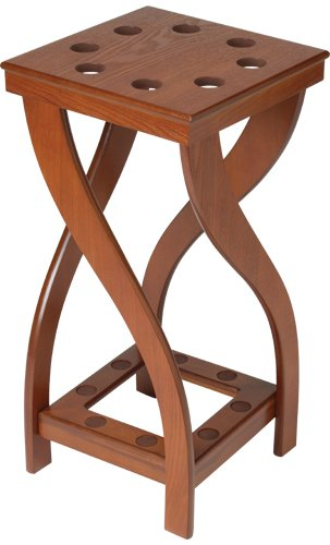 Sale!! 8 Cue Twist Shaped Stained Wood Cue Rack