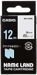 カシオ ラベルライター ネームランド テープ 12mm XR-12WE 白