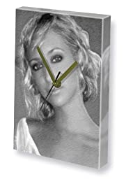ALI BASTIAN - Canvas Clock (LARGE A3 - Signed by the Artist) #js005