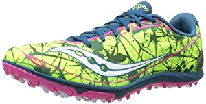 Saucony Women's Shay XC4 Flat Cross Country Flat Shoe,Citron/Navy/Pink,10.5 M US