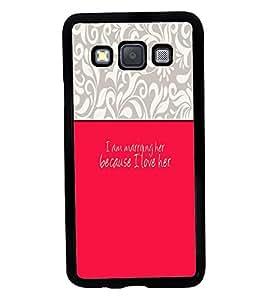 Printvisa 2D Printed Love Designer back case cover for Samsung Galaxy A3 A300F- D4292