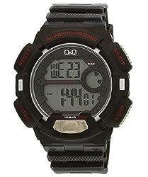 Q&Q Digital Grey Dial Mens Watch - M132J003Y