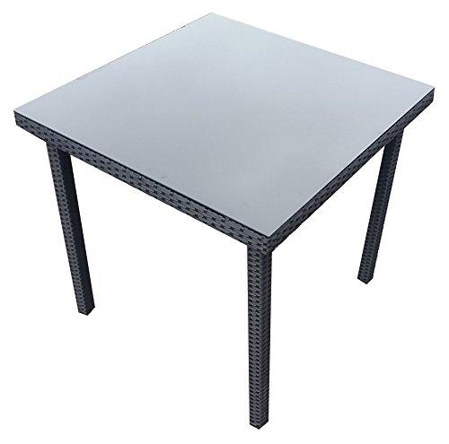 Rattan-Poly-Rattan-Gartentisch-Balkontisch-Esstisch-80x80-cm-GM13-8080-Tisch