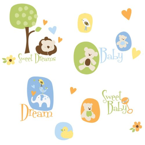ROOMMATES RMK1777SCS Modern Baby Peel and Stick Wall Decals - 1