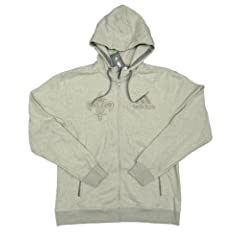 NBA New Orleans Hornets Team Issued adidas Fleece-Lined Zip-up Hoodie Size XL - Gray