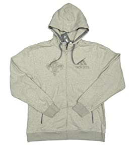 NBA New Orleans Hornets Team Issued adidas Fleece-Lined Zip-up Hoodie Size 2XLT -...