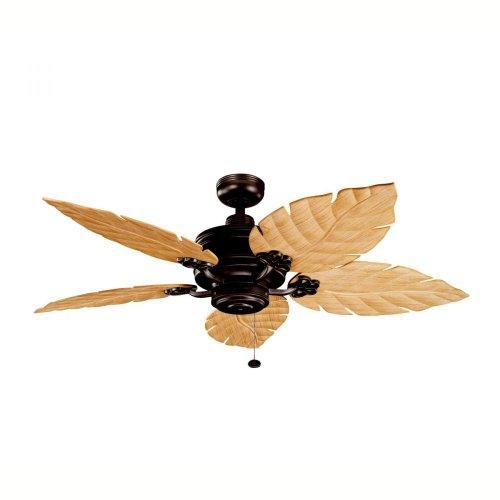 Kichler Lighting 320102TZP 52-Inch Crystal Bay Ceiling Fan, Tannery Bronze Powder Coat