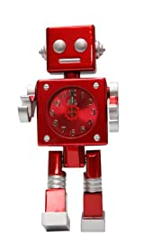 Robot Character Clock - Red Robot Clock