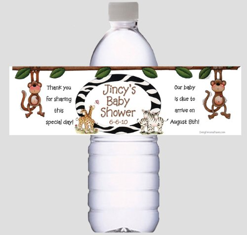 Baby Shower Water Bottle Labels for Favors or decorations - Personalized