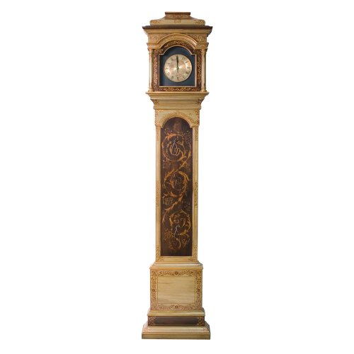 Castilian Hand Painted with 14k Gold Details Grandfather Clock