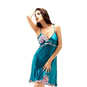 TOPTIE Women's Delicate Lace Nightgown - Blue, Nightgown Costume