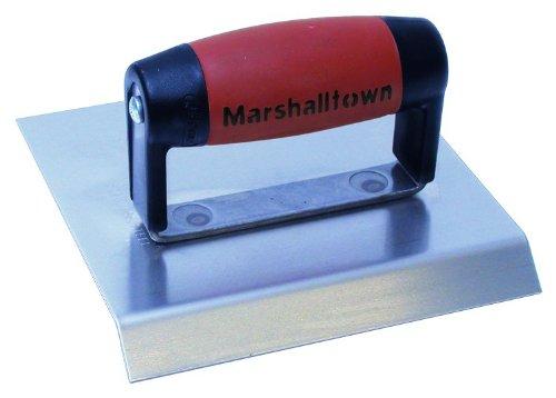 MARSHALLTOWN The Premier Line 483CH 6-Inch x 6-Inch Stainless Steel Chamfer Edger-DuraSoft Handle; 3/4-Inch Lip