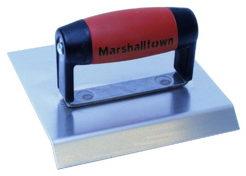 MARSHALLTOWN The Premier Line 484CH 6-Inch x 8-Inch Stainless Steel Chamfer Edger-DuraSoft Handle; 3/4-Inch Lip