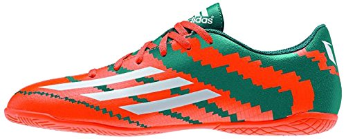adidas Boy's Messi 104 In J Power Teal F14, Ftwr White and Solar Orange Sports Shoes - 12C UK  available at amazon for Rs.2449