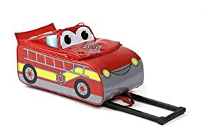 Fire Engine 3d Kids Wheeled Case By Higgledy Piggledy by Higgledy Piggledy