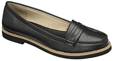 Dolcis Ladies Black Loafer Fashion Shoes