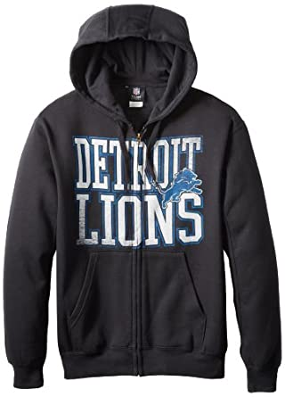 NFL Detroit Lions Touchback V Full Zip Hoodie - Black by VF LSG