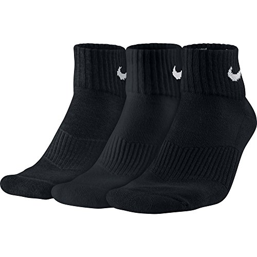 Nike Men's 1/2 Cushioned Ankle Sport Socks 3-Pack, L, Black (Cool Nike Socks compare prices)