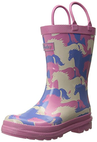 Hatley Girls' Rainboots-Puzzle Piece Horses, Multi, 7 M US Toddler