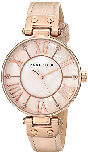anne-klein-womens-10-9918rglp-rose-gold-tone-watch-with-leather-band