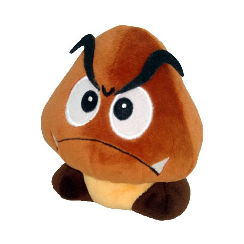"Little Buddy Official Super Mario Plush - 5"" Goomba Plush - 1"