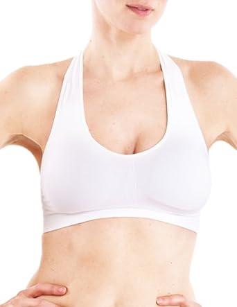 Women Lady Seamless Sports Yoga Bra Comfort Top Vest Crop Padded Stretch Bra VIN
