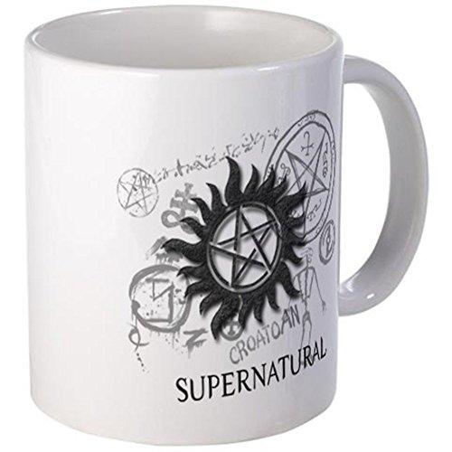 CafePress-Supernatural, metallo arrugginita Nero-Tazza, Ceramica Metallo, bianco, s