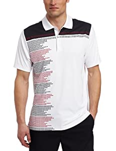 Adidas Golf Men's Climacool Block Engineered Printed Polo Shirt, White/Black, X-Large