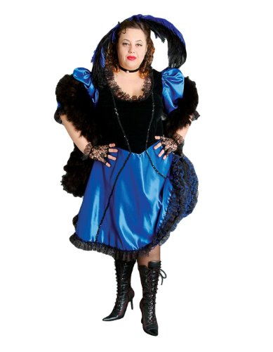 Deluxe Plus Size Saloon Girl Theatrical Quality Costume