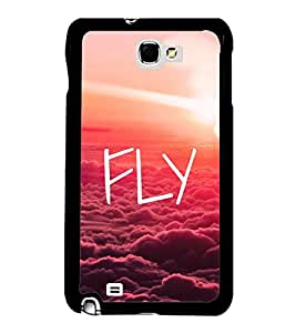 Fly 2D Hard Polycarbonate Designer Back Case Cover for Samsung Galaxy Note 2 :: Samsung Galaxy Note II N7100
