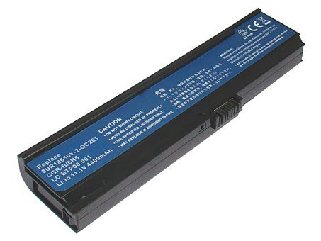 11.10V,4400mAh,Li-ion, Replacement Laptop Battery for ACER TravelMate 3242NWXMi, TravelMate 4310, ACER Aspire 3050, 3680, 5050, 5570, 5580, TravelMate 2480, 3260, 3270 Series, Compatible In behalf of Numbers: 3UR18650Y-2-QC261, CGR-B/6H5, LC.BTP00.001, LI