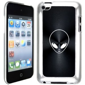 Apple iPod Touch 4 4G 4th Generation Black B287 hard back case cover Alien Head