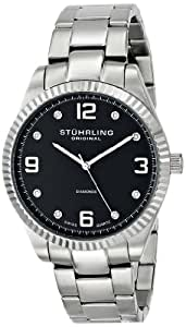 "Stuhrling Original Men's 607G.02 ""Classique Allure"" Stainless Steel Watch with Diamonds"
