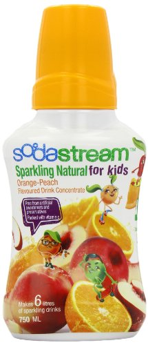 Sodastream Naturals Flavouring Syrup Kids Orange and Peach 750 ml Bottle (Pack of 6)