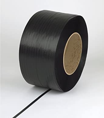 "PAC Strapping 58H.80.2154 Polypropylene Heavy Duty Hand Grade Strapping, 5,400' Length, 5/8"" Width, Black"