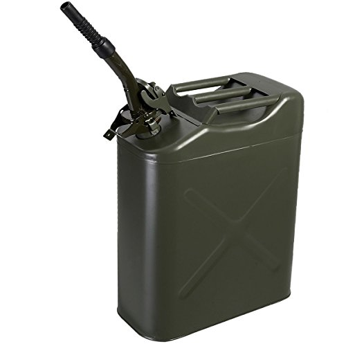 Goplus® New 5 Gal 20L Jerry Can Gasoline Oil Fuel Can Gas Storage Steel Tank NATO Style (Jerry Cans Gasoline compare prices)