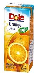 Doleオレンジ100% 200ml×18本