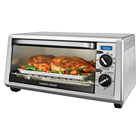 Black & Decker Stainless Steel Toaster Oven Broiler - 4 Slice