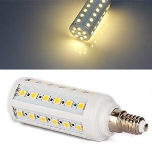 E14 9W 44 LED 5050 SMD Lámpara Bombilla 3000K Luz Blanco Cálido   revisión