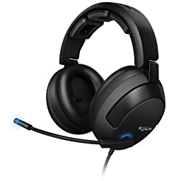 ROCCAT KAVE 5.1 Surround Sound Gaming Headset with Desktop Remote, Black
