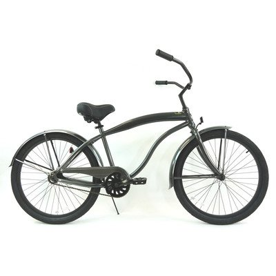 Men's Single Speed Beach Cruiser Color: Grey / Black