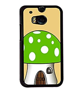 Green Mushroom 2D Hard Polycarbonate Designer Back Case Cover for HTC One M8 :: HTC M8 :: HTC One M8 Eye :: HTC One M8 Dual Sim :: HTC One M8s
