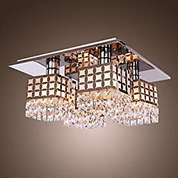 Stainless steel crystal absorb dome light 4 lamp mode