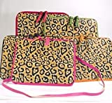 Jazzd Vinyl Leopard Print iPad Case with Shoulder Strap