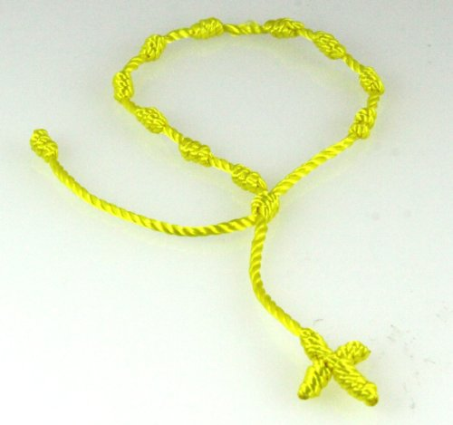 4030567 Bright Yellow Decenario Pulseras Knotted Thread Cross Bracelet Hip Hop Kanye West