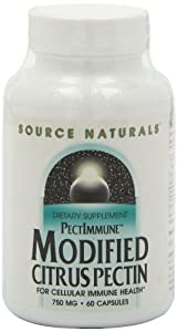 Source Naturals Modified Citrus Pectin, 60 Caps 750 mg by Source Naturals