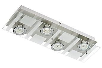Briloner Leuchten Led Wandleuchte 4 X 5 W 400 Lm Matt Nickel 3551