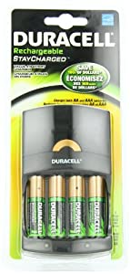 Value Charger with 4 AA StayCharged Batteries 1 Kit