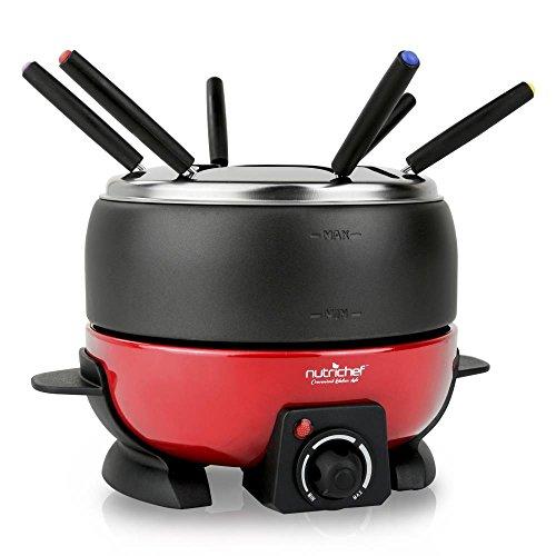 Nutrichef Electric Fondue Maker Electric Melting Pot